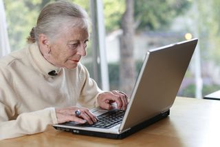 Elder Woman with Laptop