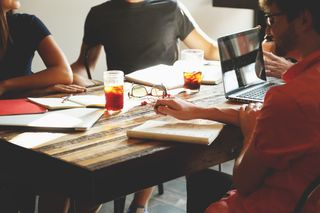 Conversation around Table