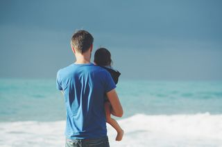 Father & Child at Beach