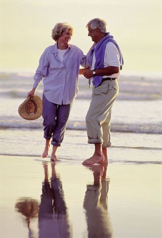 Elder Couple on Beach