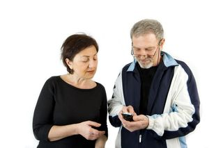 Older Couple with Phone