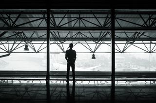 Young Man in Airport