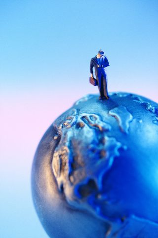 Artsy-Man on Globe