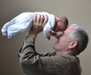 Grandfather with Baby