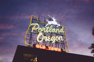 Sign for Portland Oregon
