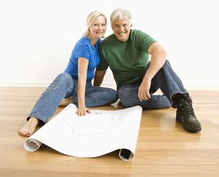 Elder Couple with Plan