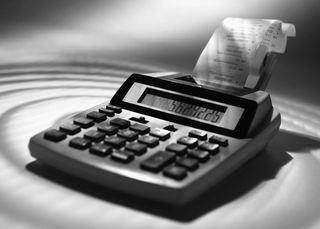 Calculator in Black and White