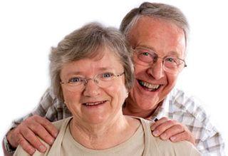 Older Couple Smiling-Portrait