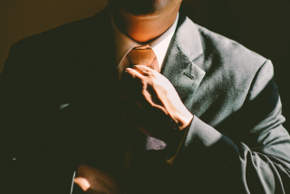 Young Man in Suit and Tie