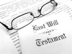 Last Will and Testament with Glasses