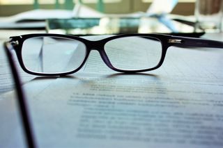 Glasses on Document
